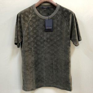 Louis Vuitton Men Dark Green T-Shirt